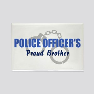 Proud Police Brother Rectangle Magnet