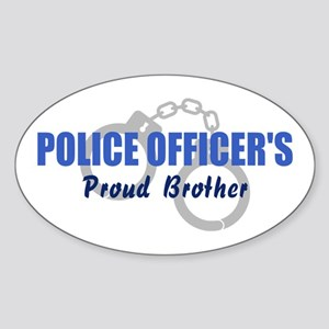 Proud Police Brother Oval Sticker