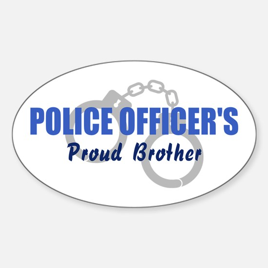 Proud Police Brother Oval Decal