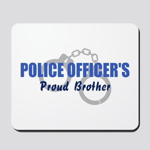 Proud Police Brother Mousepad