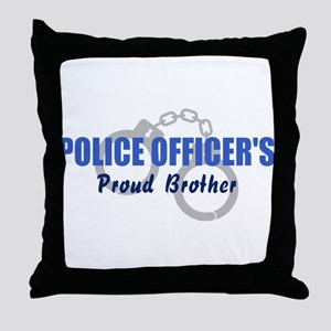 Proud Police Brother Throw Pillow