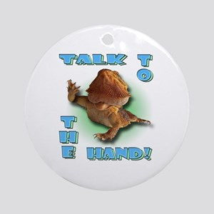 Bearded Dragon - Talk To The  Ornament (Round)