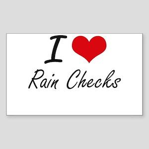 I Love Rain Checks Sticker