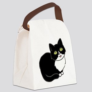 Tuxedo Cat Tuxie Canvas Lunch Bag