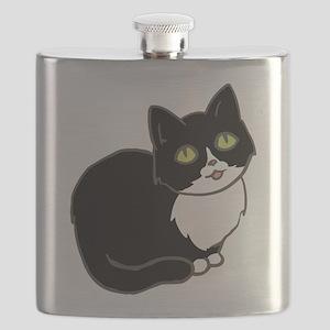 Tuxedo Cat Tuxie Flask
