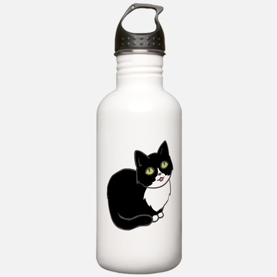 Tuxedo Cat Tuxie Water Bottle