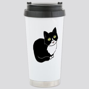 Tuxedo Cat Tuxie Travel Mug