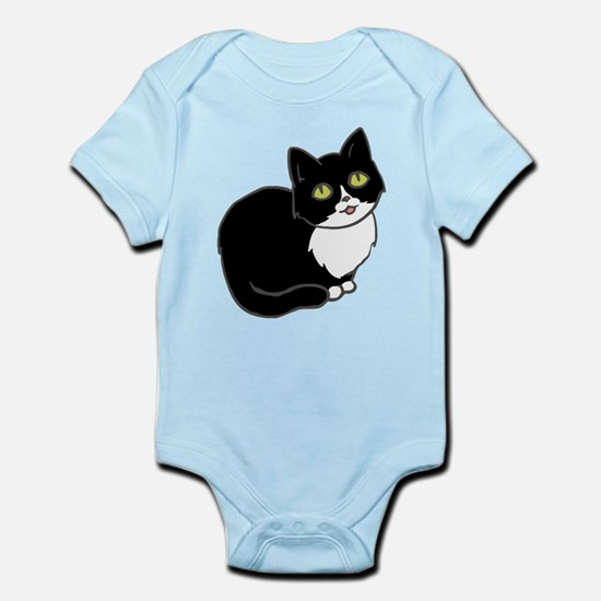 Tuxedo Cat Tuxie Body Suit