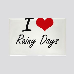 I Love Rainy Days Magnets