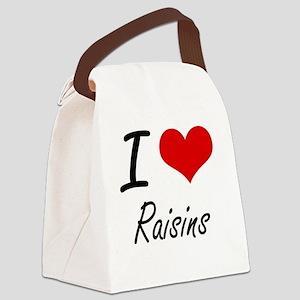 I Love Raisins Canvas Lunch Bag