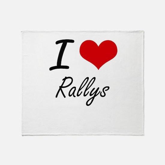 I Love Rallys Throw Blanket
