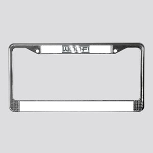 CHROME PLATED WOOF License Plate Frame
