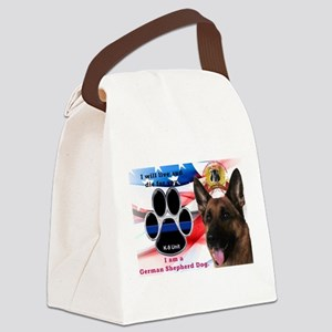 German Shepherd K-9 Canvas Lunch Bag