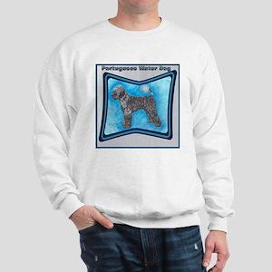 Portuguese Water Dog Blk Wht  Sweatshirt