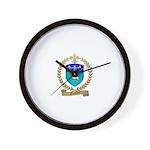FUSELIER Family Crest Wall Clock