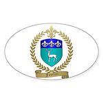 FUSELIER Family Crest Oval Sticker