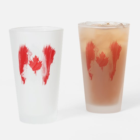 Canada Flag Canadian Drinking Glass