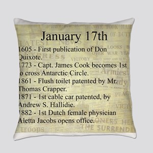 January 17th Everyday Pillow