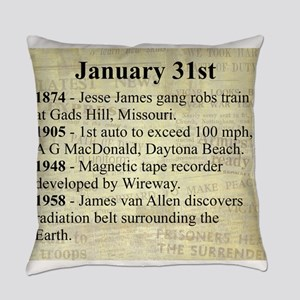 January 31st Everyday Pillow