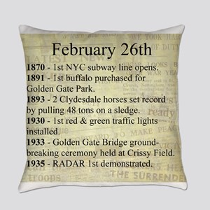 February 26th Everyday Pillow