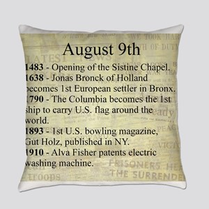 August 9th Everyday Pillow