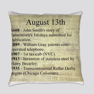 August 13th Everyday Pillow