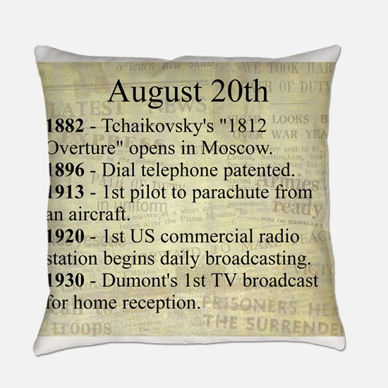 August 20th Everyday Pillow