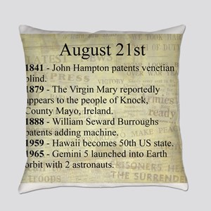 August 21st Everyday Pillow