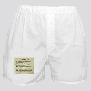 October 1st Boxer Shorts