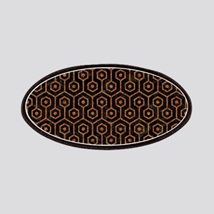 HEXAGON1 BLACK MARBLE & RUSTED METAL (R) Patch
