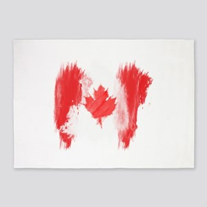 Canada Flag Canadian 5'x7'Area Rug
