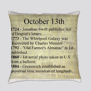 October 13th Everyday Pillow