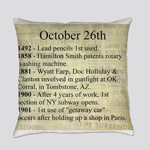 October 26th Everyday Pillow