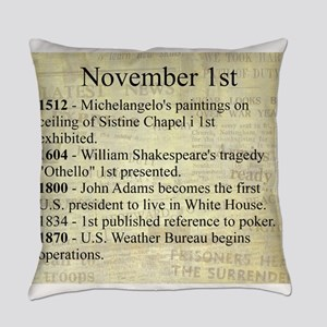 November 1st Everyday Pillow