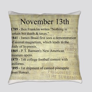 November 13th Everyday Pillow