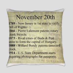 November 20th Everyday Pillow