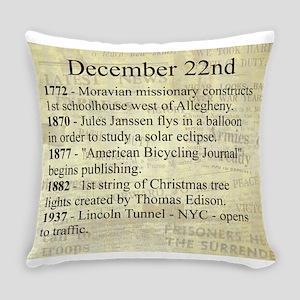 December 22nd Everyday Pillow