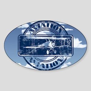 Retro Aviation Art Sticker