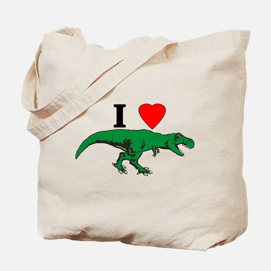 T Rex Green Tote Bag