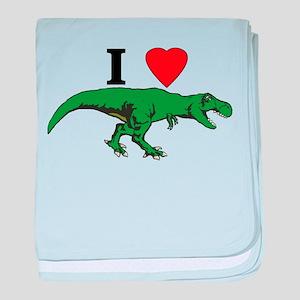 T Rex Green baby blanket