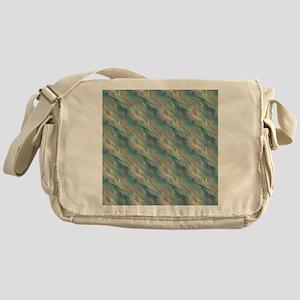 Blue Waves Pattern Messenger Bag