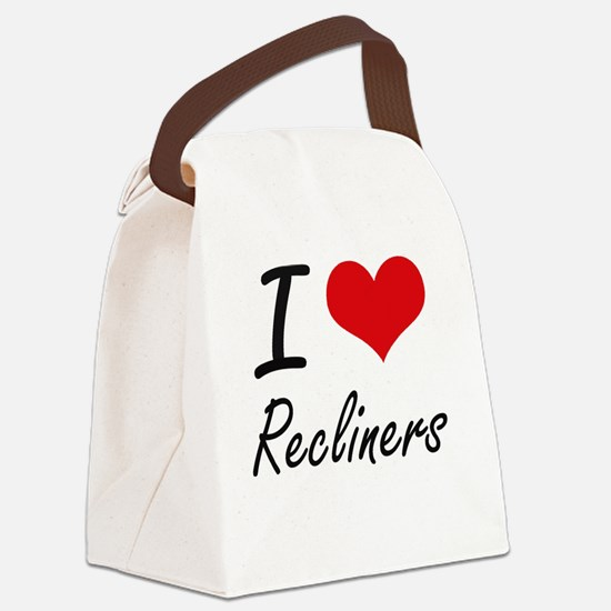 I love Recliners Canvas Lunch Bag