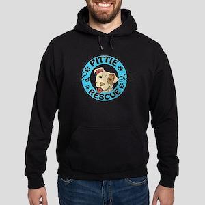 It's A Pittie Rescue Hoodie (dark)