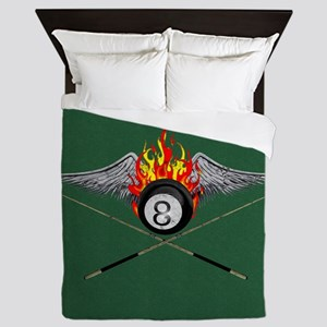 Eight Ball Queen Duvet