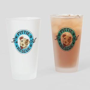 It's A Pittie Rescue Drinking Glass