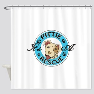 It's A Pittie Rescue Shower Curtain