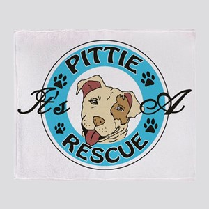 It's A Pittie Rescue Throw Blanket