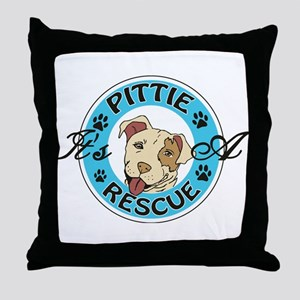 It's A Pittie Rescue Throw Pillow