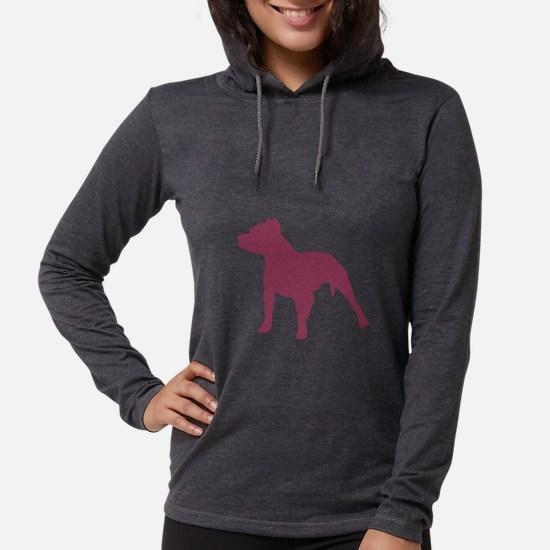 Pitbull Pink 1 Dark Long Sleeve T-Shirt