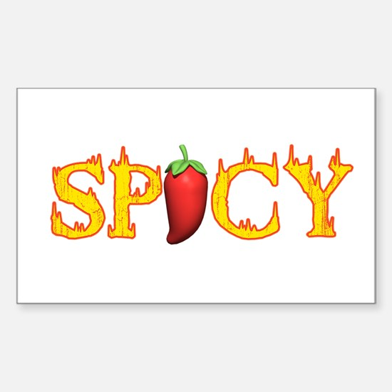 Spicy Hot Rectangle Decal